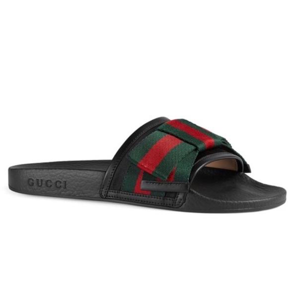 8d00e7c67d4b Authentic GUCCI Sandals 498316KLWI0 Nero Vrv  37G